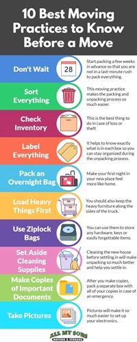 10 Best Moving Practices to Know Before Moving infographic